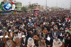 #Iraq: Thousands Condemn al-Khalifa Crimes Against #Bahrain People