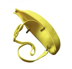 Yellow felt Banana Bag by krukrustudio on Etsy, $90.00