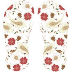 Estampa para chinelo Floral 000610