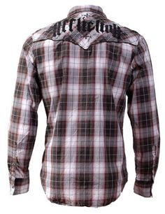 affliction button down shirts for men | Affliction Shirt Long Sleeve Saloon Western Button Down | 7845451