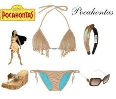 Outfit Pocahontas para la playa... #Disney #moda #1001consejos