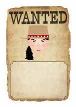 Cowboy wanted poster writing frames (SB4563) - SparkleBox