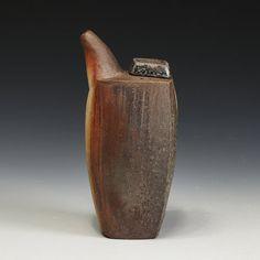 Jason Bohnert, wood fired Oil Bottle, In Tandem Gallery www.intandemgallery.com