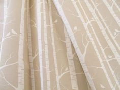 Big W Shower Curtain Birch Tree Leaf