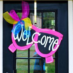 Summer Door Hanger: Sunglasses, Door Decoration, Summer Wreath. $45.00, via Etsy.