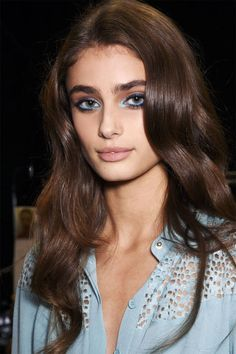 Pastel Blue Shadow #beauty #model #makeup #hair