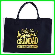 Only An Awesome Grandad Gets Hugged A Lot A Cool Gift - Tote Bag - Top handle bags (*Amazon Partner-Link)