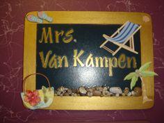 Nameplate for my door
