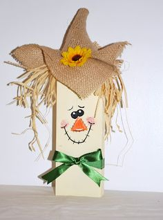 Cute 2x4 Scarecrow :)