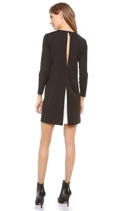 theory black silk dress
