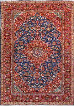 Esfahan Persian Rug Handmade 8 7 X 12