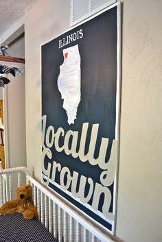 """""""Locally Grown"""" nursery sign"""