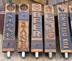 Custom Tap Handle made from Oak Whiskey and Wine by BarHomeDesigns