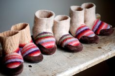 Eco Baby Shoes Wool & Leather Size 012 618 1224 by WoolyBaby, $38.00