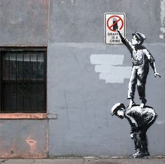"""Photos of all 31 Days of Banksy's NYC Residency, """"Better Out Than In"""" and Map of Locations 