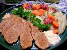 Vegan Corned Beef & Cabbage ~ a perfect choice for a vegetarian St. Patrick's Day dinner ~ homemade & tasty!