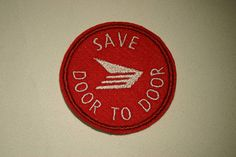 Save Door to Door  Canada Post   Embroidered IronOn SewOn