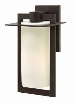 Hinkley Lighting 2924BZ-GU24 Colfax 1 Light 15 inch Bronze Outdoor Wall in Etched Seedy GU24 Etched Opal Glass