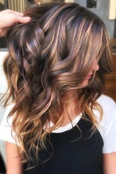 Ribbon Highlights Are The Latest Hair Trend We're Obsessed With Brunette Hair Color,
