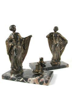 Coppia Lampade Francesi Art Déco - Epoca: 1925