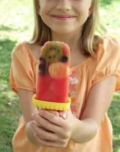 Watermelon Fruit Popsicles (refined sugar-free, all natural)