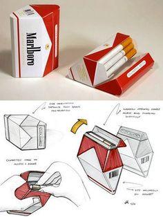 Pin 24. Cigarette package design.