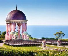 pink wedding decor, indian