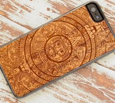 If you truly admire the beauty of Aztec prints, then this Aztec Calendar iPhone 5 Case by Carved is surely made for you.