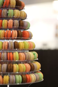 Tower of macarons at Faubourg Cafe Vancouver Restaurants, Macarons, Tower, Instagram, Rook, Computer Case, Macaroons, Building