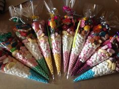 Disco party sweet cones