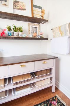 Organize This: A Hard Working Studio!  http://www.yellowbrickhome.com/2014/04/03/the-workroom-ready-to-work/