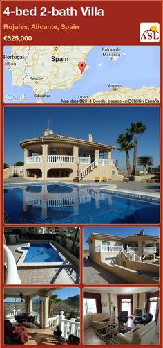 4-bed 2-bath Villa in Rojales, Alicante, Spain ►€525,000 #PropertyForSaleInSpain