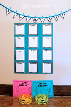 Lots of FREE birthday printables for teachers