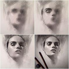 Portrait Sketches, Pencil Portrait, Art Drawings Sketches, Portrait Art, Charcoal Sketch, Charcoal Art, Charcoal Drawing Tutorial, Drawing People Faces, Shetland