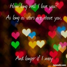 "-- #LyricArt for ""How Long Will I Love You"" by Jon Boden"