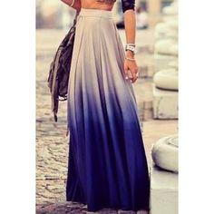 $21.20 Stylish Ombre Skirt For Women
