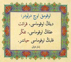 Okumak üç türlüdür Dilin okuması kıraat Aklın okuması tefekkür Kalbin okuması hayattır. İmamı Gazali