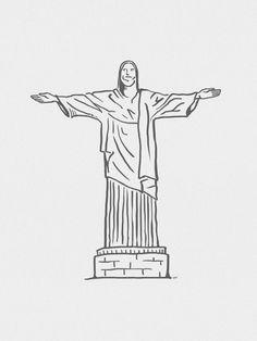 Cristo Redentor Minimalista - On The Wall | Crie seu quadro com essa imagem https://www.onthewall.com.br/design-by-on-the-wall/minimalista/cristo-redentor-minimalista #quadro #canvas #moldura #decor #riodejaneiro #rj #minimalista