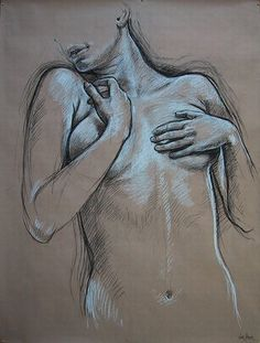 artistes peintres Francine VAN HOVE mou-> huile nette au milieu, qui semble s'évaporer en haut et en bas, dégouliner a l'acrylique, corps qui fond