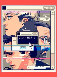 """""""Halt and Catch Fire"""" is a platform for a fascinating, buried period of digital history. illustration Silicon Valley's Dramatic Prehistory Comics Illustration, Illustrations, Game Design, Pixel Art Gif, Amc Shows, Digital History, Der Computer, Geek Art, Insta Art"""
