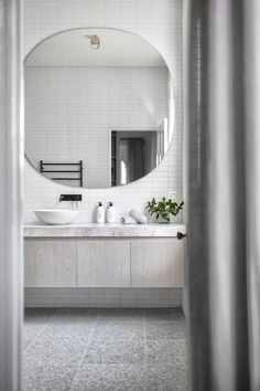 Interior design is an art form & this home captures it perfectly. The use of natural light along side the interior design elements are magical. Ensuite Bathrooms, Bathroom Toilets, Laundry In Bathroom, Bathroom Renos, Bathroom Renovations, Master Bathroom, Bathroom Ideas, Bathroom Styling, Bad Inspiration