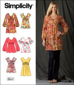 Misses Pullover Mini Dress and Tunic. Size 6-14. Simplicity 2690. Pattern is new and uncut. Out of print. by TNMTREASURES on Etsy