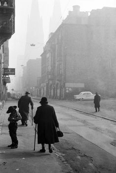 Cologne after world war II, west germany, 1965    photo by leonard freed/magnum photos