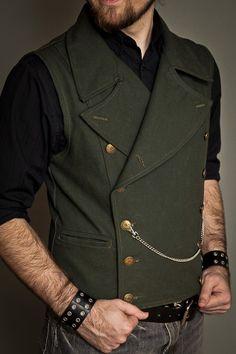 Pinkerton vest olive by Lastwear.com | steampunk is ok, sometimes