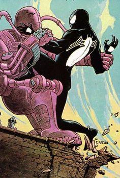 web of spider-man annual charles vess, 1985 Marvel Comic Books, Marvel Characters, Comic Books Art, Comic Art, Book Art, Hq Marvel, Marvel Heroes, Marvel Comics, Venom Comics