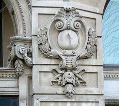 Architectural details on Brandeis Building