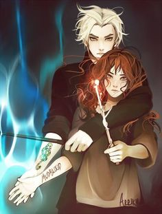 Draco is a Veela and when he finds out his Mate is Hermione Granger he was so happy but what will his parents think? will Draco and Hermione get along? Harry Potter Anime, Harry Potter Fan Art, Harry Potter World, Blaise Harry Potter, Fans D'harry Potter, Mundo Harry Potter, Harry Potter Ships, Harry Potter Universal, Harry Potter Fandom