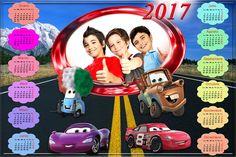 Calendarios para Photoshop: Calendario para el 2017 de Cars para Photoshop (Ps...