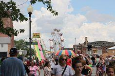 Anthony Cornett's photo of the crowds during Centralia, Missouri's Anchor Fest 2014.