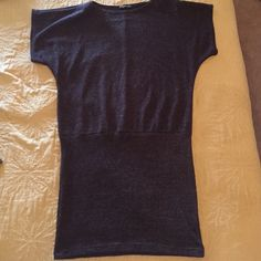 Nice long blouse Grey Long blouse with silver pinstripe... Never worn Body Central Tops Blouses